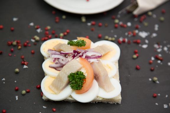 Veislulist Smurbrauð Egg og Síld